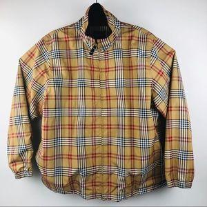 Vtg Catalina Nova Print Plaid Windbreaker Jacket